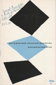 Bayerisches Staatsschauspiel Helmut Henrichs, Walter haug Programmheft Ernst Penzoldt DIE PORTUGALESISCHE SCHLACHT Premiere 16. Februar 1959 Residenztheater Spielzeit 1958 / 59 Heft 6