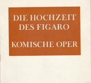 Komische Oper Berlin, Stephan Stompor Programmheft Mozart: DIE HOCHZEIT DES FIGARO 1. Mai 1975