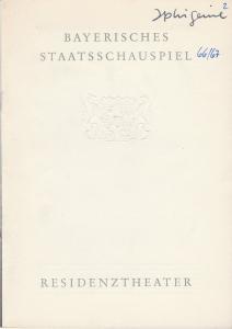 Bayerisches Staatsschauspiel, Helmut Henrichs, Dieter Hackemann Programmheft Neuinszenierung Johann Wolfgang von Goethe IPHIGENIE AUF TAURIS Premiere 1.November 1966 Residenztheater Spielzeit 1966 / 67