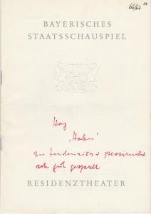 Bayerisches Staatsschauspiel, Helmut Henrichs, Ernst Wendt Programmheft Julius Hay HABEN Premiere 26. Juli 1967 Residenztheater Spielzeit 1966 / 67