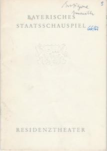 Bayerisches Staatsschauspiel, Helmut Henrichs, Dieter Hackemann Programmheft Neuinszenierung Jean Anouihl ANTIGONE Premiere 21. Dezember 1966 Residenztheater Spielzeit 1966 / 67