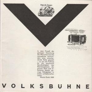 Volksbühne am Luxemburgplatz, Karl Holan, Bernd Böhmel Programmheft Henrik Ibsen: DIE WILDENTE Premiere 8. Dezember 1973 Spielzeit 1973 / 74 Heft 3