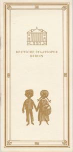 Deutsche Staatsoper Berlin, Deutsche Demokratische Republik, Werner Otto, Werner Klemke Programmheft Engelbert Humperdinck HÄNSEL UND GRETEL 18. Dezember 1969