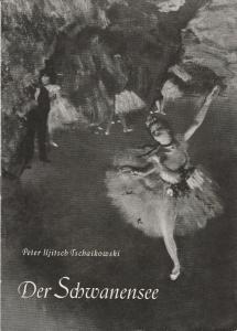 Staatsoper Dresden, Heinrich Allmeroth, Eberhard Sprink Programmheft Peter Iljitsch Tschaikowski SCHWANENSEE Spielzeit 1958 / 59 Heft B Nr. 2