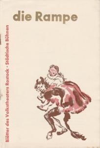 Volkstheater Rostock, Hanns Anselm Perten, Lothar Rückert, Hans Fetting, Georg Hülsse ( Umschlagzeichnung ) Programmheft Antonin Dvorak: KATINKA UND DER TEUFEL Premiere 5. Januar 1958 Spielzeit 1957 / 58 Heft 19