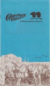Städtische Bühnen Münster, Karl Wesseler, Klaus-Edgar Wichmann Programmheft CANTERBURY TALES Spielzeit 1983 / 84 Heft 13