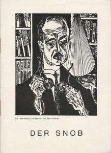 Renaissance-Theater Berlin Programmheft Der Snob. Komödie von Carl Sternheim. Spielzeit 1964 / 65 mit Beilagen