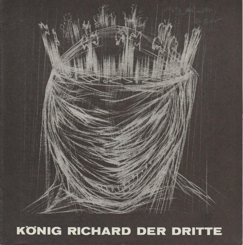 Städtische Bühnen Münster, Horst Gnekow, Franz Willnauer, Roland Lillie Programmheft William Shakespeare KÖNIG RICHARD DER DRITTE 26. Mai 1970 Spielzeit 1969 / 70 0
