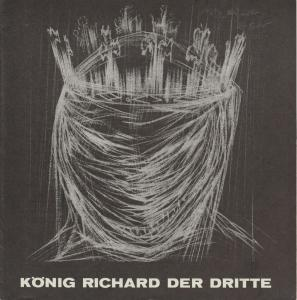 Städtische Bühnen Münster, Horst Gnekow, Franz Willnauer, Roland Lillie Programmheft William Shakespeare KÖNIG RICHARD DER DRITTE 26. Mai 1970 Spielzeit 1969 / 70