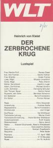 Westfälisches Landestheater WLT, Herbert Hauck, Ernst Franz, Jost Krüger Programmheft Heinrich von Kleist DER ZERBROCHENE KRUG Premiere 17. April 1982