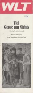 Westfälisches Landestheater WLT, Herbert Hauck, Ernst Franz, Gabriele Bauhofer Programmheft William Shakespeare VIEL GETUE UM NICHTS Premiere 2. März 1980 Spielzeit 1979 / 80