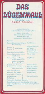 Landesbühnen Sachsen, Christian Pötzsch, Monika Mehnert, Eberhard Söhnel Programmheft Carlo Goldoni DAS LÜGENHAUS Spielzeit 1972 / 73 Heft 9