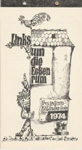 Die Herkuleskeule, Das Kabarett der Stadt Dresden, Manfred Schubert, DDR - Kabarett Links um die Ecken rum. Programmkalender für das Jahr 1974