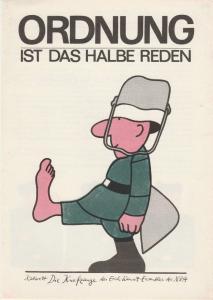 Kabarett Die Kneifzange des Erich-Weinert-Ensembles der NVA, Manfred Bofinger, DDR - Kabarett Programmheft Ordnung ist das halbe Reden