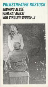 Volkstheater Rostock DDR, Hanns Anselm Perten, Gerda Perthel Programmheft Edward Albee: Wer hat Angst vor Virginia Woolf … ? Premiere 17. April 1976 Spielzeit 1975 / 76