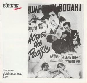 Bühnen Lübeck, Hans Thoenies, Walter Hollender Programmheft Woody Allen SPIEL'S NOCHMAL SAM Premiere 7. April 1989 Kammerspiele Spielzeit 1988 / 89 Heft 13