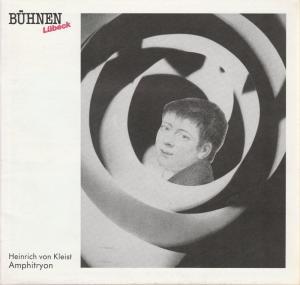 Bühnen der Hansestadt Lübeck, Hans Thoenies, Walter Hollender Programmheft Heinrich von Kleist AMPHITRYON Premiere 25. September 1987 Kammerspiele Spielzeit 1987 / 88 Heft 3