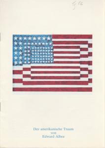 Schauspiel Köln, Hansgünther Heyme, Roberto Ciulli, Angelika Hurwicz, Susanne Bonenkamp Programmheft Edward Albee: Der amerikanische Traum. Premiere 15. Mai 1976 Kammerspiele Spielzeit 1975 / 76
