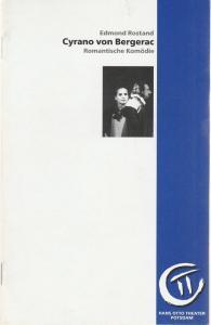 Hans Otto Theater Potsdam, Ralf-Günter Krolkiewicz, Heike Wintz, Stefan Glöde ( Probenfotos ) Programmheft Edmond Rostand: CYRANO VON BERGERAC Premiere 6. September 1997 Schloßtheater im Neuen Palais