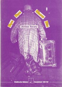 Städtische Bühnen Osnabrück, Norbert Kleine Borgmann, Michael Dischinger, Katharina Keim Programmheft Jerome Savary BYE BYE SHOW BIZ Premiere 24. April 1992 Großes Haus Spielzeit 1991 / 92 Heft 11