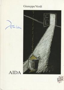 Ulmer Theater, Pavel Fieber, Gunther Volz, Rainer Pompe, Angelika Schirmer Programmheft Guiseppe Verdi AIDA Premiere 22. September 1990 Spielzeit 1990 / 91