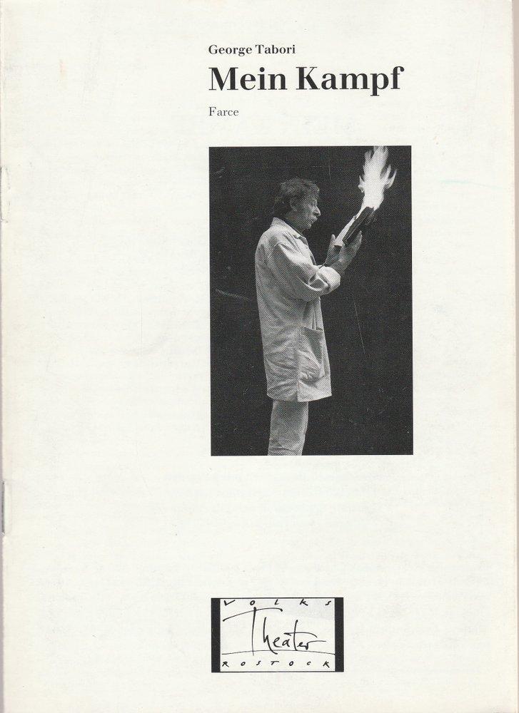 Volkstheater Rostock, Berndt Renne, Sigrid Hoelzke, Lothar Roß Programmheft MEIN KAMPF. Farce von George Tabori. Premiere 17. Mai 1991 Spielzeit 1990 / 91 0