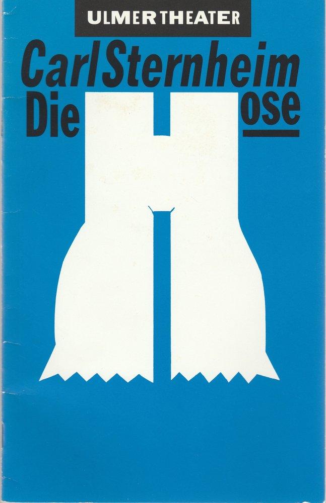 Ulmer Theater, Bernd Wilms, Heike Frank, Jochen Manz ( Probenfotos ) Programmheft Carl Sternheim: DIE HOSE Premiere 12. März 1992 Spielzeit 1991 / 92 Heft 17 0