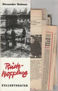 Leipziger Theater, Karl Kayser, Christoph Hamm, Hanne Röpke, Corfried Baasch Programmheft Alexander Gelmann RÜCKKOPPLUNG Premiere 14. November 1977 Kellertheater Spielzeit 1977 / 78 Heft 9
