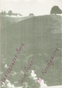 Stadttheater Bern, Philippe de Bros, Eberhard Elmar Zick Programmheft Anton Cechov: DER KIRSCHGARTEN Premiere 22. Februar 1990 Spielzeit 1989 / 90 ( Tschechow )