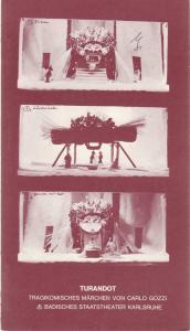 Badisches Staatstheater Karlsruhe, Günter Könemann, Willi Händler, Ernstgeorg Hering Programmheft Carlo Gozzi: TURANDOT Premiere 30. September 1979 Spielzeit 1979 / 80 Heft Nr. 2