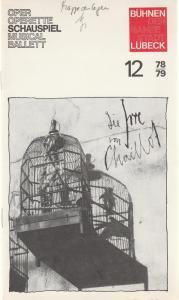 Bühnen der Hansestadt Lübeck, Hans Thoenies, Gert Müller Programmheft Jean Giraudoux: Die Irre von Chaillot Premiere 3. Februar 1979 Kammerspiele Spielzeit 1978 / 79 Heft 12