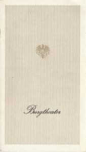 Burgtheater Wien Programmheft HÖLLENANGST von Johann Nestroy Premiere 8. Oktober 1983