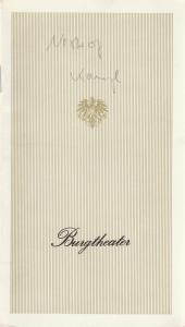 Burgtheater Wien, Reinhard Urbach Programmheft KAMPL. Posse mit Gesang von Johann Nestroy. Premiere 29. Oktober 1978