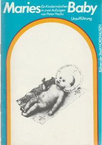 Bühnen der Stadt Nordhausen, Siegfried Mühlhaus, Hubert Krass jr. Programmheft Uraufführung MARIES BABY von Peter Hacks Spielzeit 1987 / 88 Nr. 5