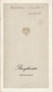 Burgtheater Wien, Erika Zabrsa, Lothar Knessl, Bruno Hitz, Margarete Groiss Programmheft Thomas Hürlimann GROßVATER UND HALBBRUDER 25. November 1981 3. Raum Spielzeit 1981 / 82 Heft 4