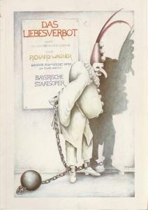 Bayerische Staatsoper, Edgar Baitzel, Krista Thiele, Irmelin Bürgers Programmheft Richard Wagner: Das Liebesverbot. Premiere am 13. Februar 1983 Nationaltheater Spielzeit 1982 / 83