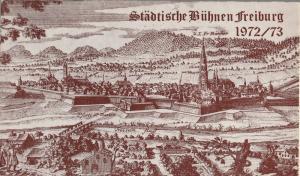 Städtische Bühnen Freiburg, Volker von Collande, Wolfgang Poch Programmheft Walter Hasenclever EIN BESSERER HERR Premiere 20. Dezember 1972 Spielzeit 1972 / 73 Heft 11