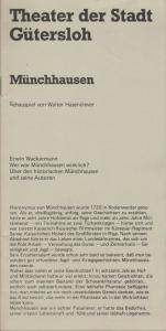Theater der Stadt Gütersloh, Günter Ochs, Programmheft Walter Hasenclever MÜNCHHAUSEN Premiere 3. Dezember 1976 Spielzeit 1976 / 77