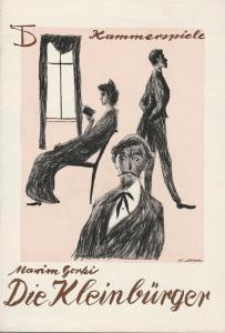 Deutsches Theater, Wolfgang Langhoff, Arno Mohr, Programmheft Maxim Gorki DIE KLEINBÜRGER 5. März 1961 Kammerspiele Spielzeit 1960 / 61 Heft 8