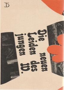 Deutsches Theater und Kammerspiele Berlin DDR, Gerhard Wolfram, Ilse Galfert Programmheft Ulrich Plenzdorf DIE NEUEN LEIDEN DES JUNGEN W. Premiere 17. Dezember 1972