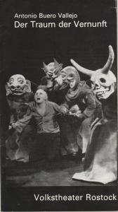 Volkstheater Rostock, Hans Anselm Perten, Gerda Perthel, Helga Thieme, Georg Hülsse, Hildegard Levermann-Westerholz Programmheft Antonio Buero Vallejo DER TRAUM DER VERNUNFT Premiere 10. November 1973 Großes Haus Spielzeit 1973 / 74
