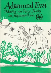 Leipziger Theater, Karl Kayser, Christoph Hamm, , Hanne Röpke, Volker Wendt Programmheft Peter Hacks ADAM UND EVA Schauspielhaus Spielzeit 1976 / 77 Heft 16
