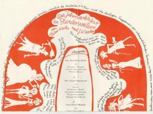 Theater Stralsund, Siegfried BöttgerDiana Anders, Christiane Domroese Programmheft Peter Hacks DAS JAHRMARKTSFEST ZU PLUNDERSWEILERN Premiere 21. März 1982 Spielzeit 1982 / 83 Heft 12