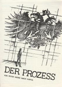 Leipziger Theater, Karl Kayser, Christoph Hamm, Walter Bankel, Marita Helbig Programmheft Peter Weiss DER PROZESS Premiere 27. Januar 1979 Schauspielhaus Spielzeit 1978 / 79 Heft 11