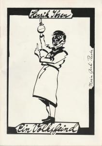 Maxim Gorki Theater, Albert Hetterle, Klaus Pierwoß, Birgit Reibel, David Baltzer Programmheft Henrik Ibsen EIN VOLKSFEIND Premiere 24. Februar 1993 Spielzeit 1992 / 93