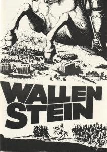 Leipziger Theater, Karl Kayser, Christoph Hamm, Hanne Röple, Isolde Hamm Programmheft Friedrich Schiller WALLENSTEIN Premiere 20. Januar 1974 Schauspielhaus