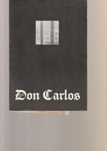 Leipziger Theater, Karl Kayser, Christoph Hamm, Hanne Röpke, Volker Wendt Programmheft Friedrich Schiller DON CARLOS Schauspielhaus Spielzeit 1975 / 76 Heft 15
