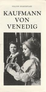Südböhmisches Theater Ceske Budejovice Programmheft William Shakespeare KAUFMANN VON VENEDIG Premiere 18. November 1975