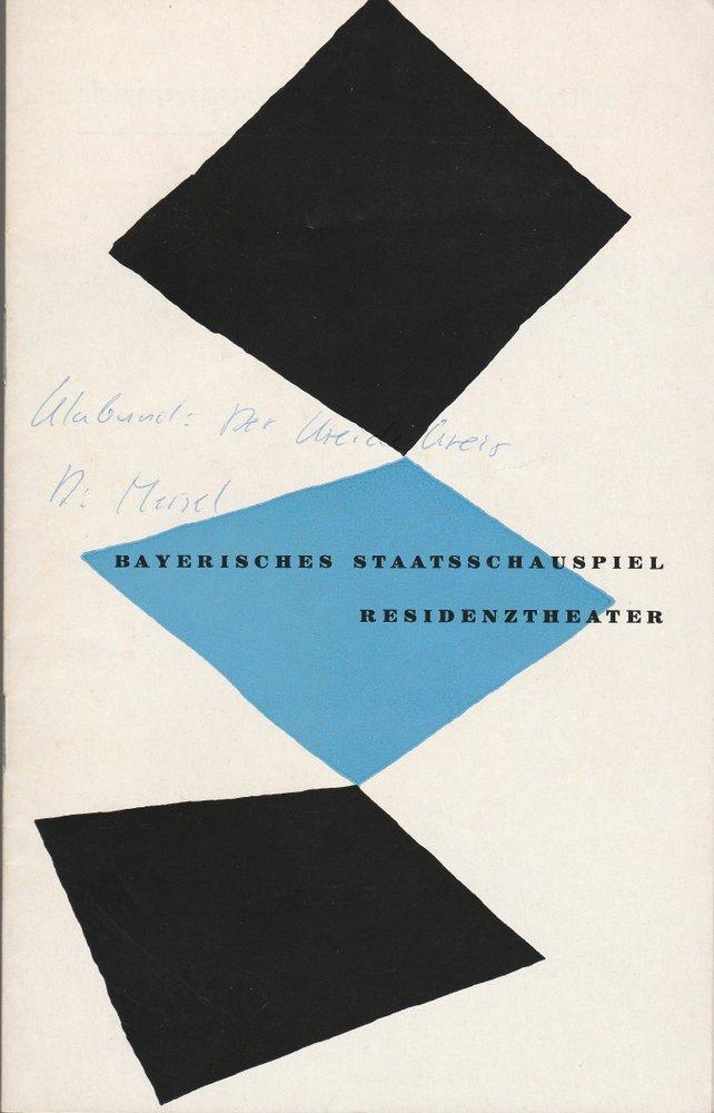 Bayerisches Staatsschauspiel, Helmut Henrichs, Walter Haug Programmheft Klabund DER KREIDEKREIS Premiere 19. März 1960 Residenztheater Spielzeit 1959 / 60 Heft 6 0