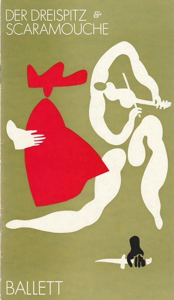 Städtische Theater Karl-Marx-Stadt, Gerhard Meyer, Gudrun Ziller, Ilona Langer Programmheft DER DREISPITZ / SCARAMOUCHE Ballett Premiere 24. April 1977 Spielzeit 1976 / 77 0